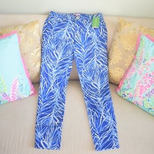 Lilly Pulitzer South Ocean Skinny Crop Pants NWT